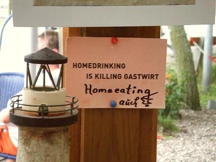 Homedrinking is killing Gastwirt